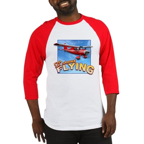 I'm All About Flying Aviation Baseball Jersey