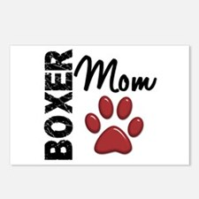 Boxer Mom 2 Postcards (Package of 8)