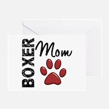 Boxer Mom 2 Greeting Card