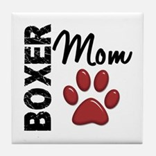 Boxer Mom 2 Tile Coaster