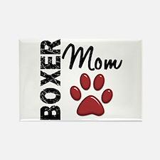 Boxer Mom 2 Rectangle Magnet (10 pack)