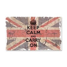 UK Flag with Keep Calm and Ca Car Magnet 20 x 12