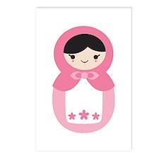 Matryoshka - Pink Postcards (Package of 8)