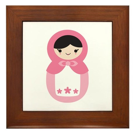 Matryoshka - Pink Framed Tile