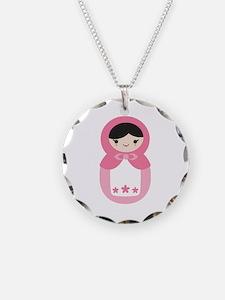 Matryoshka - Pink Necklace