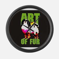 Art Of Fur Large Wall Clock
