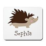 Custom Name Hedgehog Mousepad