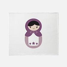 Matryoshka - Purple Throw Blanket