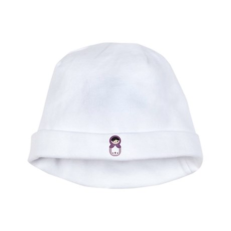 Matryoshka - Purple baby hat