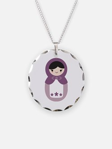 Matryoshka - Purple Necklace