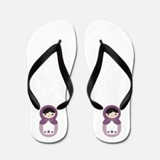 Matryoshka - Purple Flip Flops