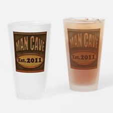 Man Cave Drinking Glass