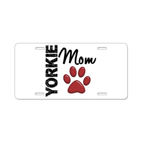 Yorkie Mom 2 Aluminum License Plate