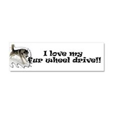 I Love My Fur Wheel Drive Car Magnet 10 x 3