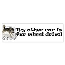 My other car is fur wheel drive Bumper Sticker