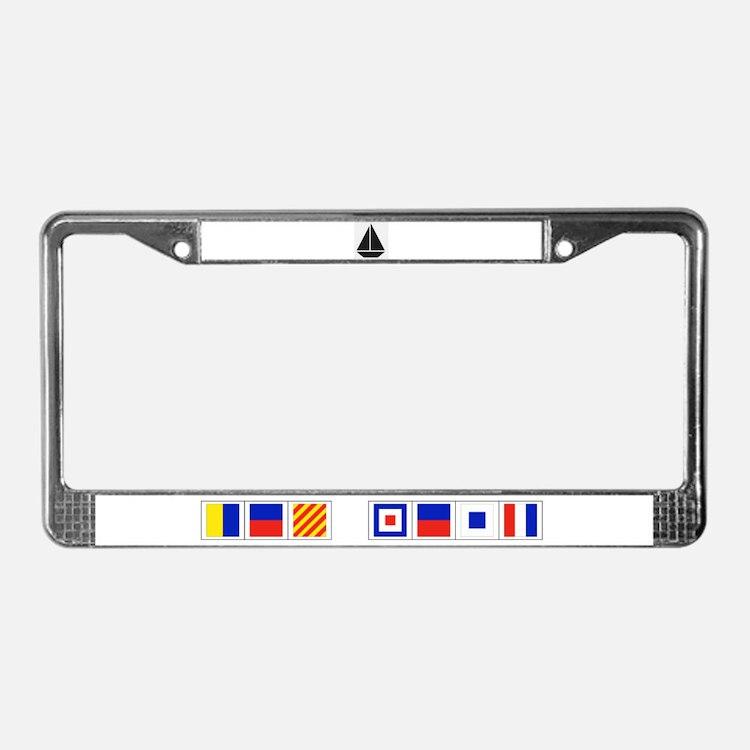 I Sail License Plate Frame, Key West