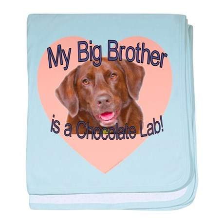 Chocolate Lab Brother baby blanket