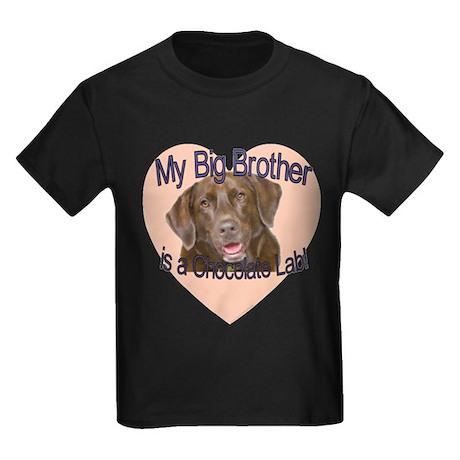 Chocolate Lab Brother Kids Dark T-Shirt