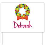 Christmas Wreath Deborah Yard Sign