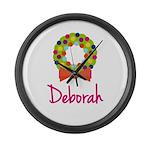 Christmas Wreath Deborah Large Wall Clock