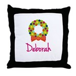 Christmas Wreath Deborah Throw Pillow