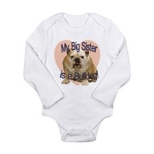 Bulldog Sister Long Sleeve Infant Bodysuit