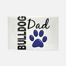 Bulldog Dad 2 Rectangle Magnet (100 pack)