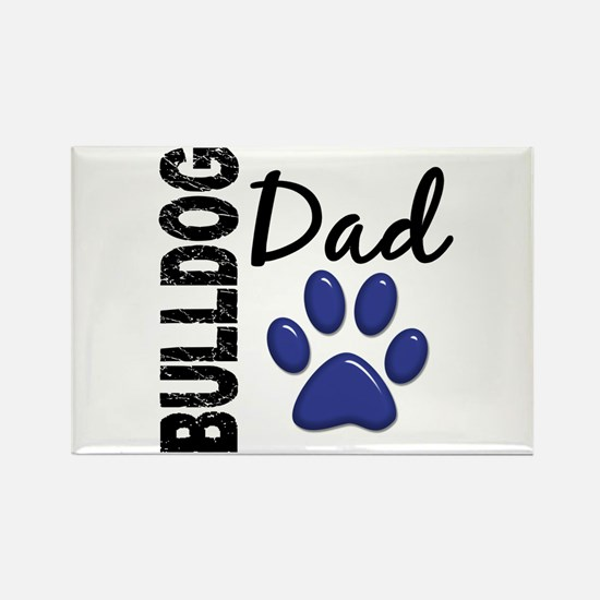 Bulldog Dad 2 Rectangle Magnet (10 pack)