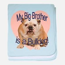 Bulldog Brother baby blanket