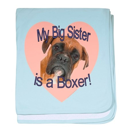 Boxer Sister baby blanket