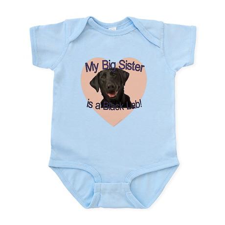 Black Lab Sister Infant Bodysuit