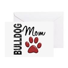 Bulldog Mom 2 Greeting Card