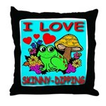 I Love Skinny-Dipping Throw Pillow