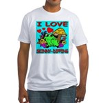 I Love Skinny-Dipping Fitted T-Shirt