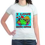I Love Skinny-Dipping Jr. Ringer T-Shirt