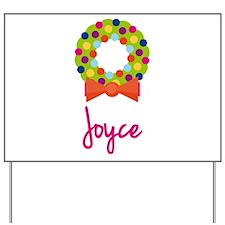 Christmas Wreath Joyce Yard Sign