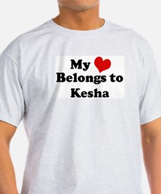 My Heart: Kesha Ash Grey T-Shirt