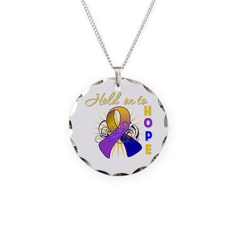 Bladder Cancer Necklace Circle Charm
