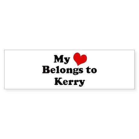 My Heart: Kerry Bumper Sticker