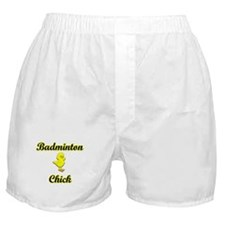 Badminton Chick Boxer Shorts