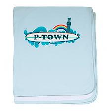 Provincetown MA - Surf Design. baby blanket