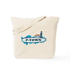 Provincetown MA - Surf Design. Tote Bag