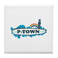 Provincetown MA - Surf Design. Tile Coaster