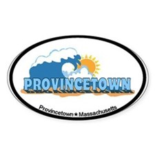 Provincetown MA - Waves Design. Decal