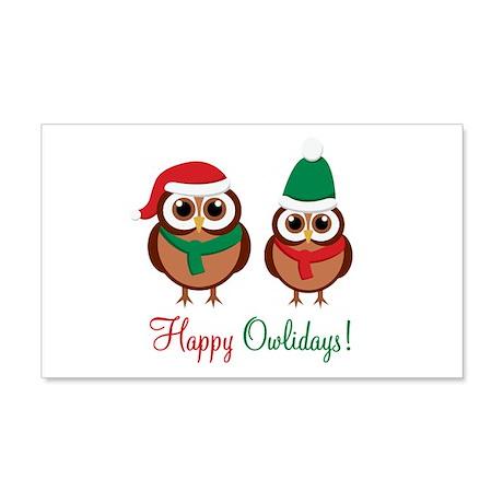 """Happy Owlidays"" 22x14 Wall Peel"