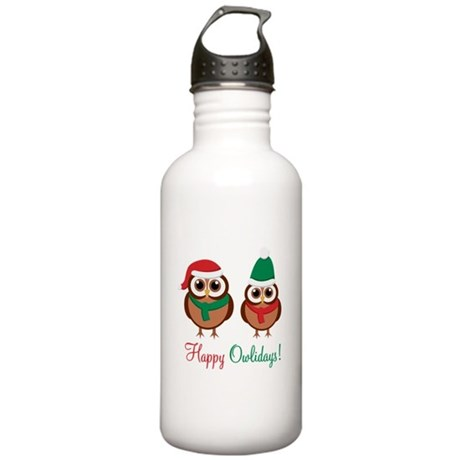 """""""Happy Owlidays"""" Stainless Water Bottle 1.0L"""