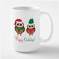 """""""Happy Owlidays"""" Mug"""