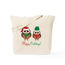 """Happy Owlidays"" Tote Bag"