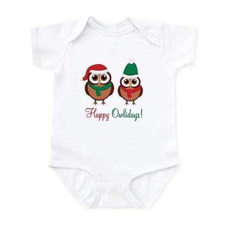 """""""Happy Owlidays"""" Infant Bodysuit"""