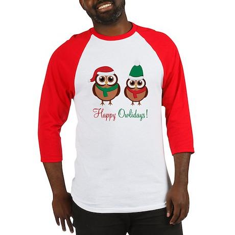 """""""Happy Owlidays"""" Baseball Jersey"""